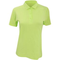 vaatteet Naiset Lyhythihainen poolopaita Anvil 6280L Key Lime