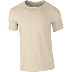 vaatteet Miehet Lyhythihainen t-paita Gildan Soft-Style Sand