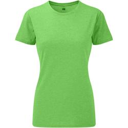 vaatteet Naiset Lyhythihainen t-paita Russell 165F Green Marl