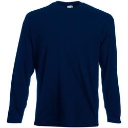 vaatteet Miehet T-paidat pitkillä hihoilla Universal Textiles 61038 Midnight Blue