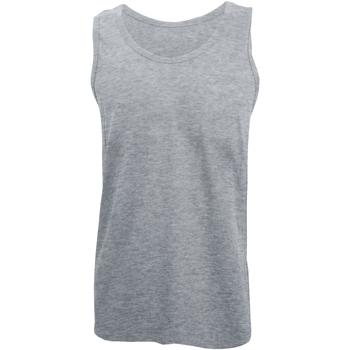 vaatteet Miehet Hihattomat paidat / Hihattomat t-paidat Gildan 64200 Sport Grey