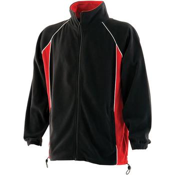 vaatteet Miehet Fleecet Finden & Hales LV550 Black/Red/White