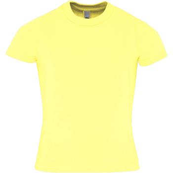 vaatteet Lapset Lyhythihainen t-paita American Apparel AA057 Lemon