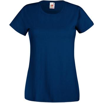 vaatteet Naiset Lyhythihainen t-paita Universal Textiles 61372 Airforce Blue