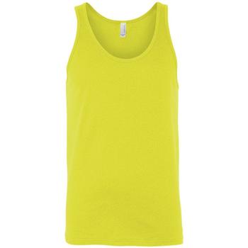 vaatteet Naiset Hihattomat paidat / Hihattomat t-paidat Bella + Canvas CA3480 Neon Yellow