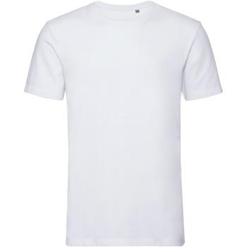 vaatteet Miehet Lyhythihainen t-paita Russell R108M White