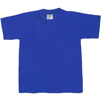 vaatteet Lapset Lyhythihainen t-paita B And C TK301 Royal