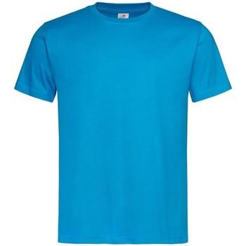 vaatteet Miehet Lyhythihainen t-paita Stedman  Ocean Blue