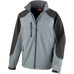 vaatteet Miehet Fleecet Result R118X Grey/Black