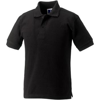 vaatteet Tytöt Lyhythihainen poolopaita Jerzees Schoolgear 599B Black