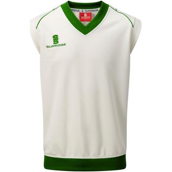 vaatteet Miehet Hihattomat paidat / Hihattomat t-paidat Surridge SU012 White/ Green Trim