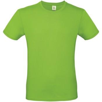 vaatteet Miehet Lyhythihainen t-paita B And C TU01T Orchid Green