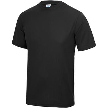 vaatteet Lapset Lyhythihainen t-paita Awdis JC01J Jet Black