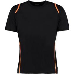 vaatteet Miehet Lyhythihainen t-paita Gamegear Cooltex Black/Fluorescent Orange