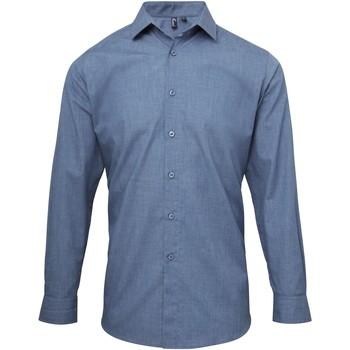 vaatteet Miehet Pitkähihainen paitapusero Premier PR217 Indigo Denim