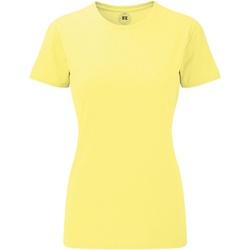vaatteet Naiset Lyhythihainen t-paita Russell 165F Yellow Marl