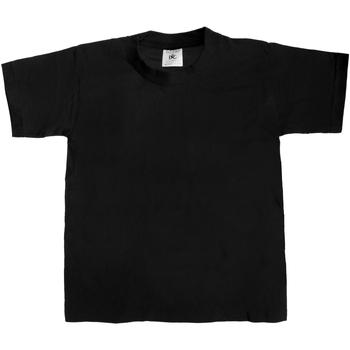 vaatteet Lapset Lyhythihainen t-paita B And C TK301 Black