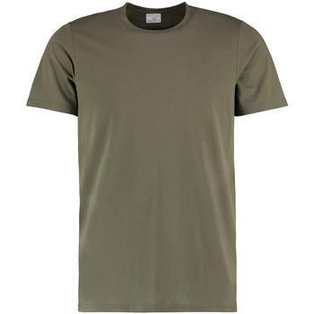vaatteet Miehet Lyhythihainen t-paita Kustom Kit KK504 Khaki