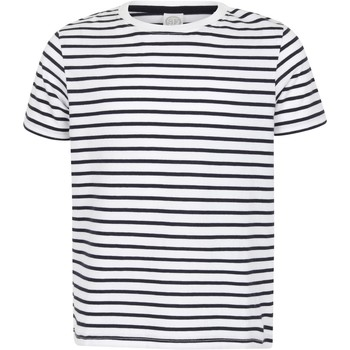 vaatteet Lapset Lyhythihainen t-paita Skinni Fit SM202 White/Oxford Navy