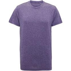 vaatteet Miehet Lyhythihainen t-paita Tridri TR010 Purple Melange