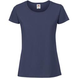 vaatteet Naiset Lyhythihainen t-paita Fruit Of The Loom 61424 Ultramarine
