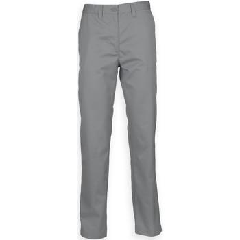 vaatteet Miehet Chino-housut / Porkkanahousut Henbury HB640 Steel Grey