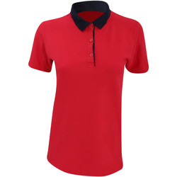 vaatteet Naiset Lyhythihainen poolopaita Anvil 6280L Red/ Navy