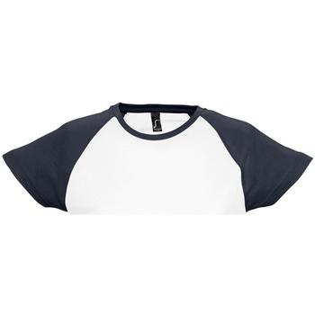 vaatteet Naiset Lyhythihainen t-paita Sols Milky White/Navy