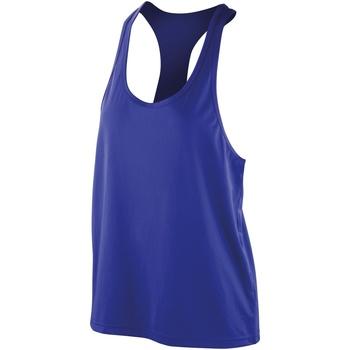 vaatteet Naiset Hihattomat paidat / Hihattomat t-paidat Spiro SR285F Sapphire