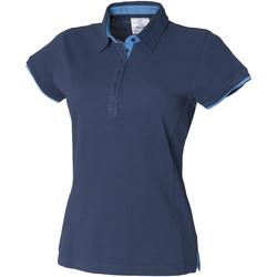vaatteet Naiset Lyhythihainen poolopaita Front Row FR201 Navy/Marine