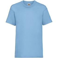 vaatteet Lapset Lyhythihainen t-paita Fruit Of The Loom 61033 Sky Blue