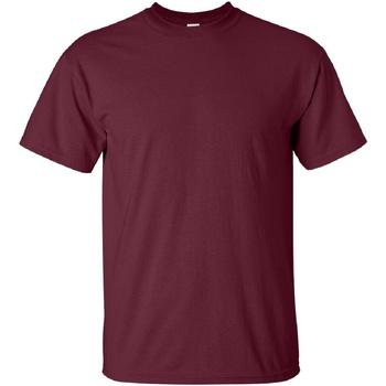vaatteet Miehet Lyhythihainen t-paita Gildan Ultra Maroon