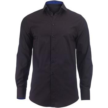 vaatteet Miehet Pitkähihainen paitapusero Alexandra Hospitality Black/ Royal
