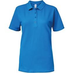 vaatteet Naiset Lyhythihainen poolopaita Gildan 64800L Sapphire