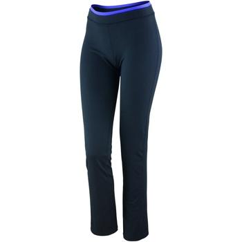 vaatteet Naiset Legginsit Spiro S275F Black / Lavender
