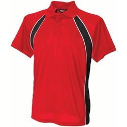 vaatteet Miehet Lyhythihainen poolopaita Finden & Hales LV350 Red/Black/White
