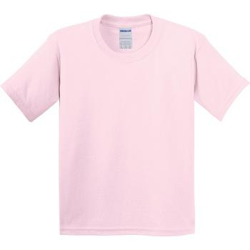vaatteet Lapset Lyhythihainen t-paita Gildan 64000B Light Pink
