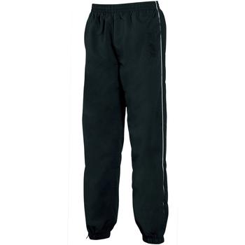vaatteet Miehet Verryttelyhousut Tombo Teamsport TL049 Black/White piping