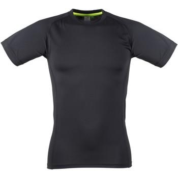 vaatteet Miehet Lyhythihainen t-paita Tombo Teamsport TL515 Black / Black