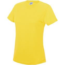 vaatteet Naiset Lyhythihainen t-paita Awdis JC005 Sun Yellow