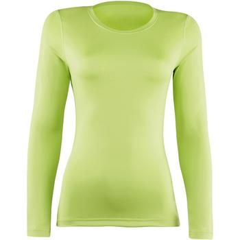 vaatteet Naiset T-paidat pitkillä hihoilla Rhino RH003 Lime