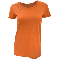 vaatteet Naiset Lyhythihainen t-paita Bella + Canvas BE8413 Orange Triblend