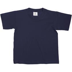 vaatteet Lapset Lyhythihainen t-paita B And C TK300 Navy Blue