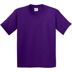 vaatteet Lapset Lyhythihainen t-paita Gildan 64000B Purple