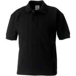 vaatteet Pojat Lyhythihainen poolopaita Jerzees Schoolgear 65/35 Black