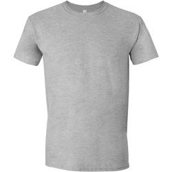vaatteet Miehet Lyhythihainen t-paita Gildan Soft-Style Sport Grey (RS)