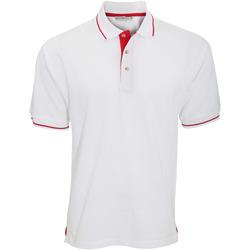 vaatteet Miehet Lyhythihainen poolopaita Kustom Kit KK606 White/Bright Red