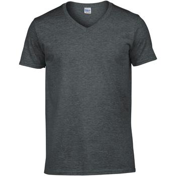 vaatteet Miehet Lyhythihainen t-paita Gildan 64V00 Dark Heather