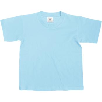 vaatteet Lapset Lyhythihainen t-paita B And C TK300 Sky Blue