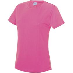 vaatteet Naiset Lyhythihainen t-paita Awdis JC005 Electric Pink